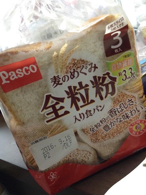 3枚切りのパスコ「麦のめぐみ全粒粉入り食パン」