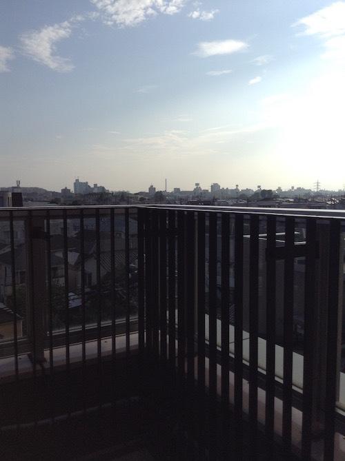 永福町駅3階からの富士山の眺め