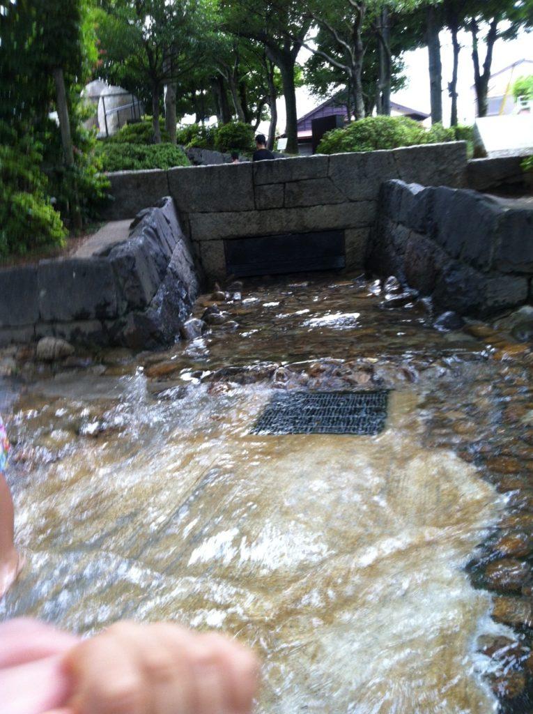 馬橋公園の水遊び場