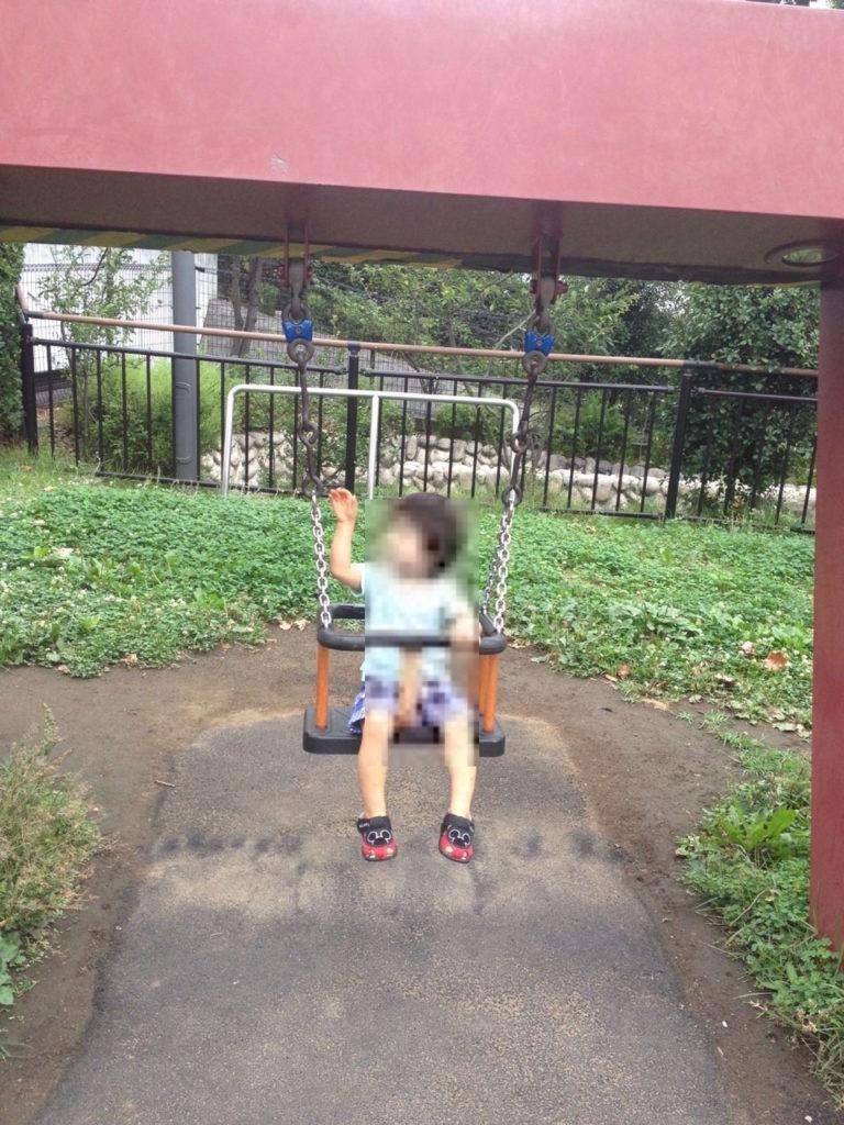 檜町公園の子供用ブランコ