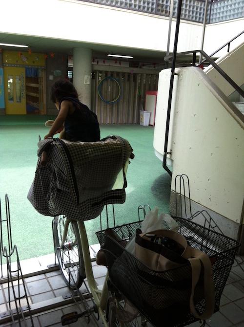 西新宿児童館の駐輪場
