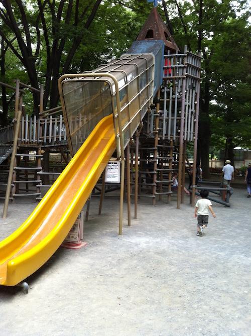 新宿中央公園の滑り台