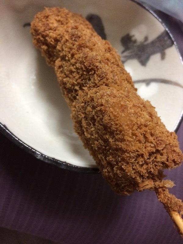 串刺しのポテトフライが美味しい