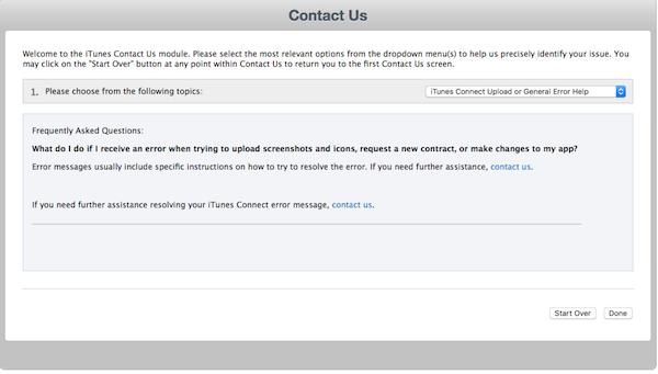 The App Store Teamにご連絡するかどうか