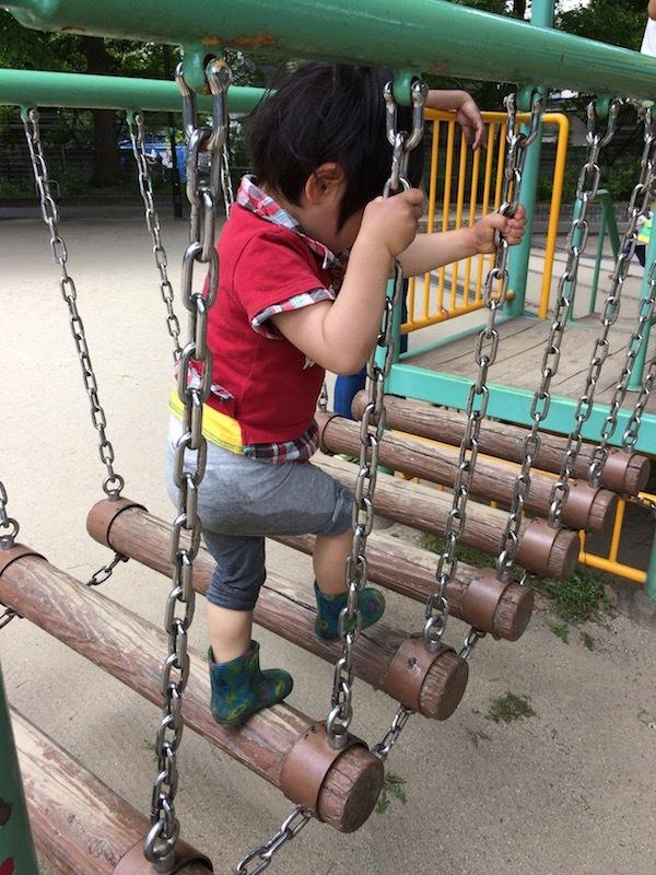 丸太の吊り橋