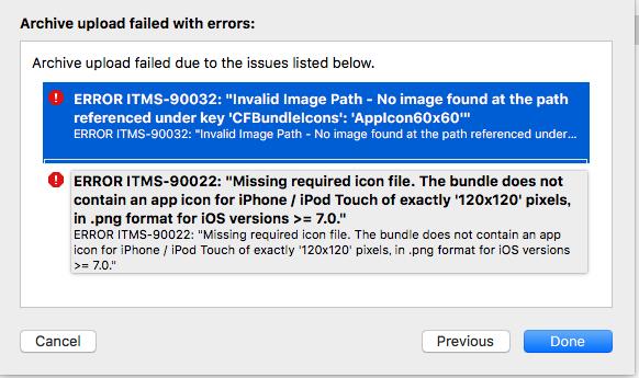 ERROR ITMS-90022とERROR ITMS-90032のapp icon image対処法