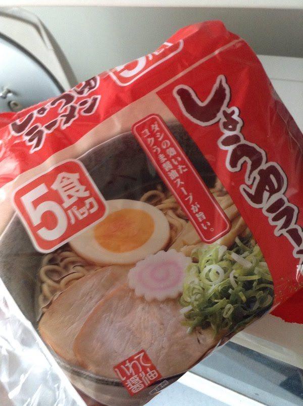 しょうゆラーメン(袋ラーメン)5食パック 135円