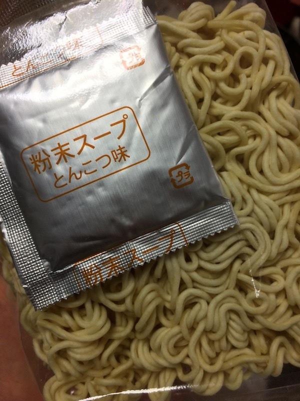 とんこつラーメン(袋ラーメン)5食パック 135円