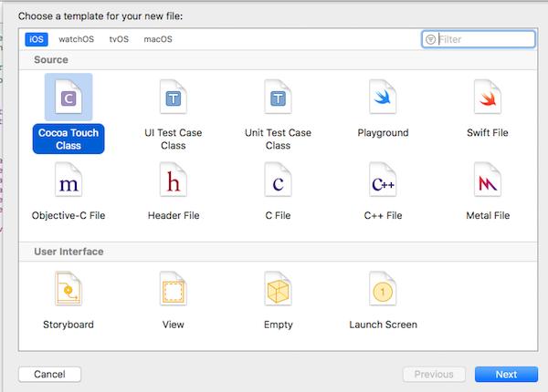 ViewController.swiftファイルの新規作成