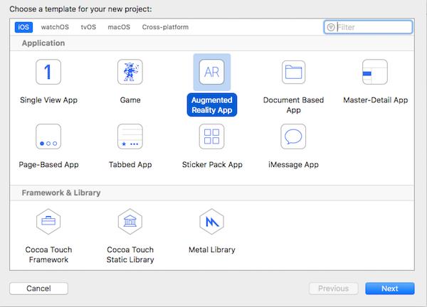 ARKitアプリのprojectの作成手順とエラーに直面するまで
