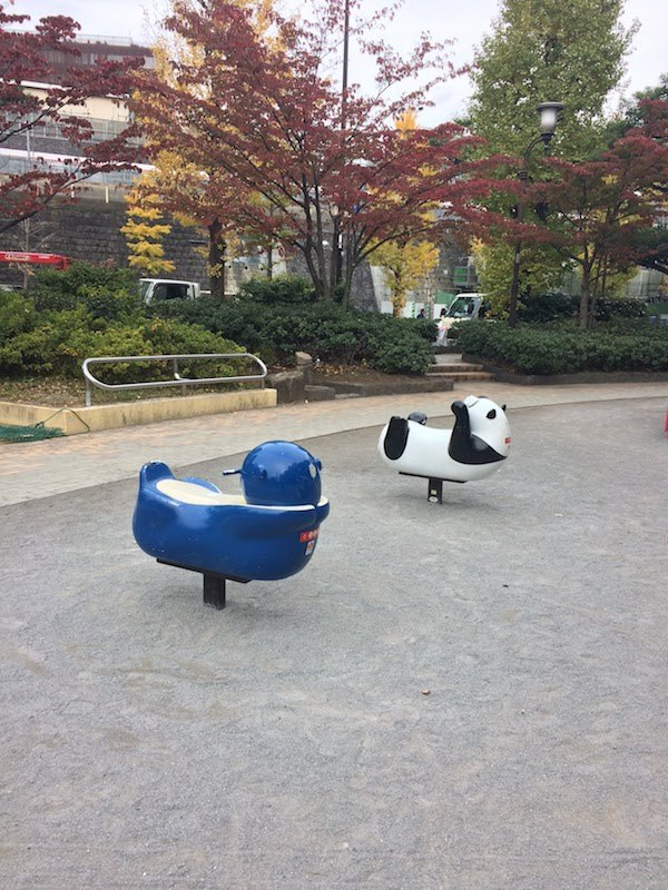 後楽公園の複合遊具がすごい