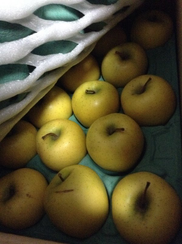 北国お米ショップのリンゴ(シナノゴールド)は加工用なのに優秀な品質で美味しい