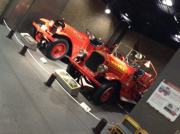 地下1階 消防自動車の変遷・ミュージアムショップ