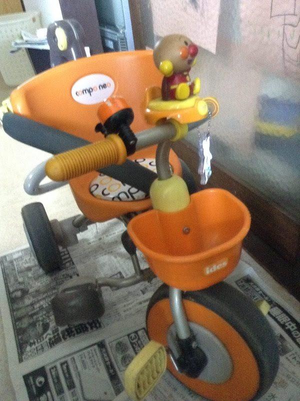 アンパンマンの折りたたみ三輪車(ides compo neo)は1歳からおすすめ