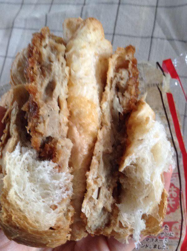 クロワッサンサンド メンチカツ(ヤマザキ)のカロリー等の味・食感等の感想・評価