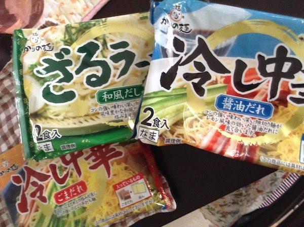 かりの麺冷し中華・ざるラーメン(狩野ジャパン)は安い美味しい長持ち