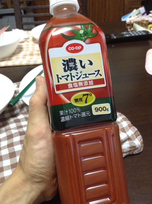 コープ 濃いトマトジュース 食塩無添加 糖度7°