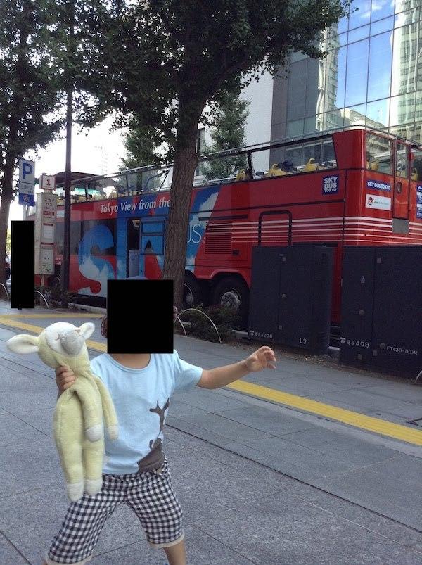 屋根なし2階建て東京観光のスカイバス(Sky Bus)は子連れにおすすめ