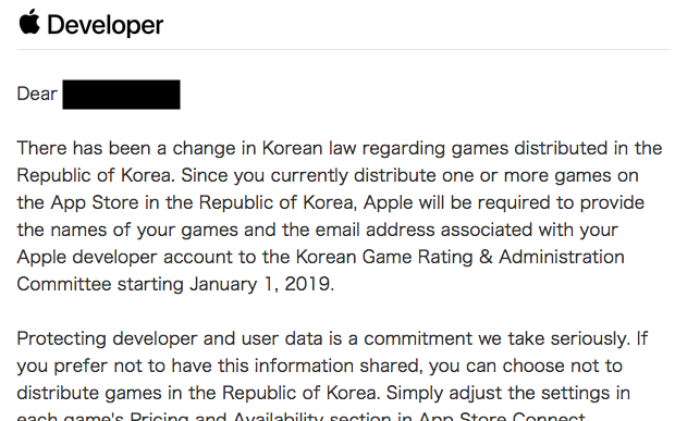 Important Information Regarding Games in the Republic of Korea.