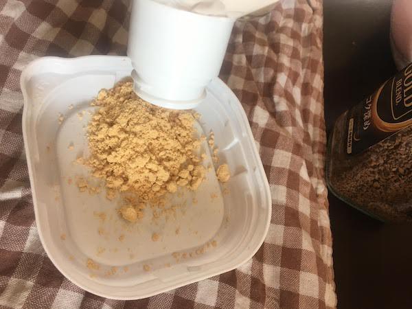 業務スーパーのきな粉1kgにどこでもキャップミニを適用