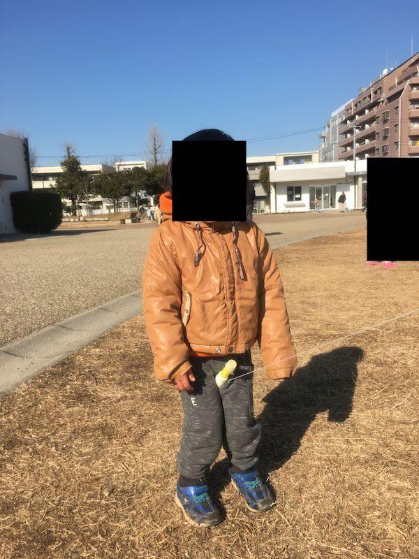 桃井原っぱ公園の凧揚げ