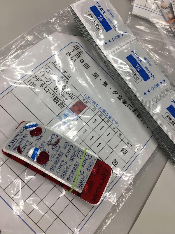 メコバラミン錠500「トーワ」0.5mg。アデホスコーワ顆粒10%。