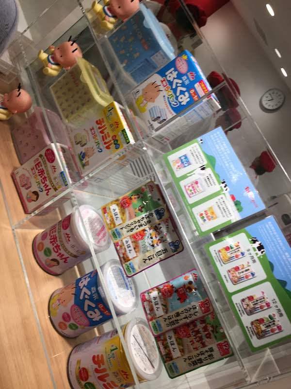 乳幼児エリアのミルクハウスは赤ちゃん用粉ミルクや離乳食が無料でもらえてお得