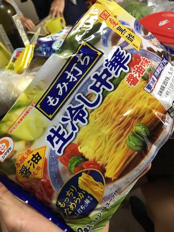 もみ打ち生冷やし中華醤油味(シマダヤ)の原材料名・カロリー等の栄養成分等