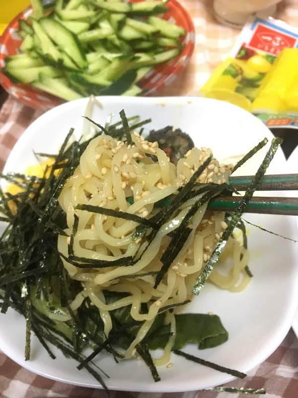 もみ打ち生冷やし中華醤油味(シマダヤ)の味・食感等の感想・評価