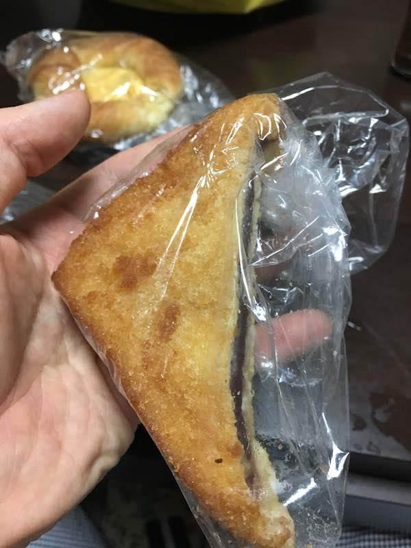 揚げたパンであんこ挟んだシベリアみたいなやつ