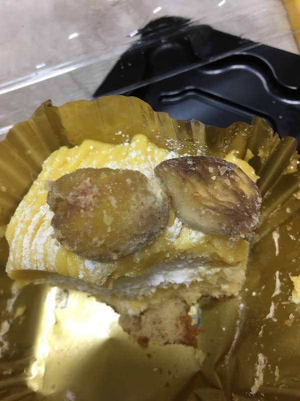 ヤマザキのモンブラン(2個入パック)の味・食感等の感想・評価