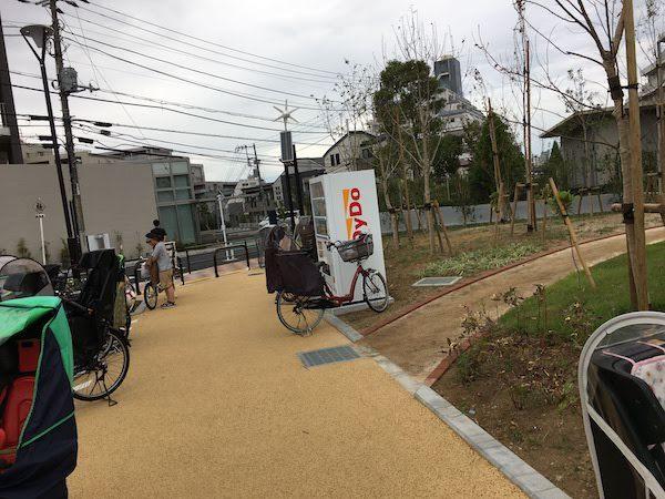中野区立広町みらい公園へのアクセスと駐輪場